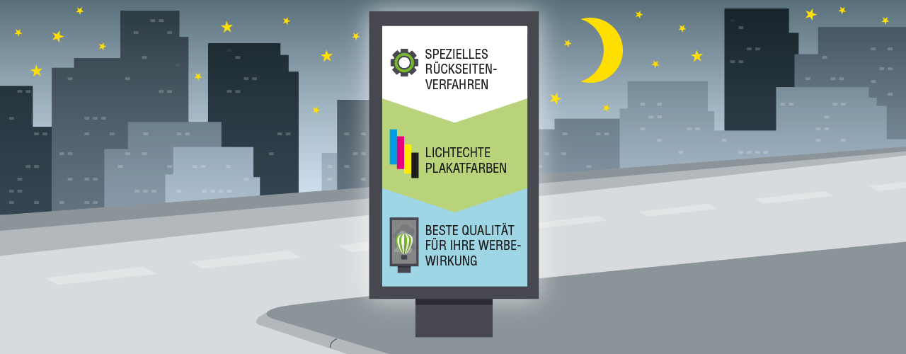 City-Light-Poster bei Tag