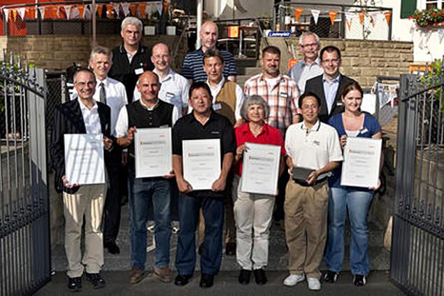"""Auszeichnung für Staudigl-Druck als """"Lieferant des Jahres 2010"""" bei der Andreas STIHL-AG & Co. KG"""
