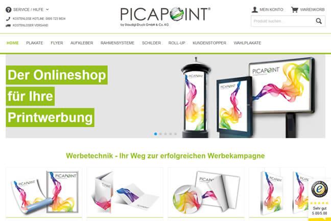 PICAPOINT Online Shop im neuen Design für bessere Übersicht