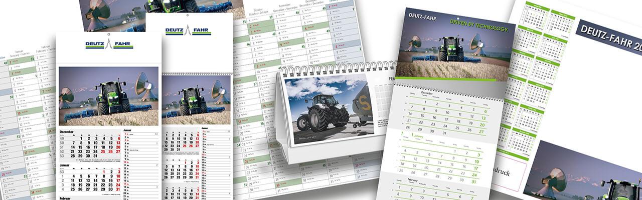 Deutz Kalender mit Werbeeindrucke