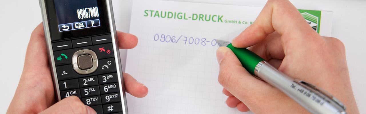 Kontakt Staudigl-Druck