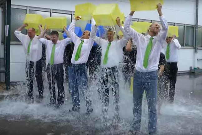 Ice Bucket Challenge erreicht Staudigl-Druck