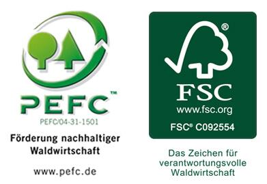 Zertifizierung PEFC/FSC Staudigl-Druck