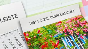 Kalender Werbeeindrucke