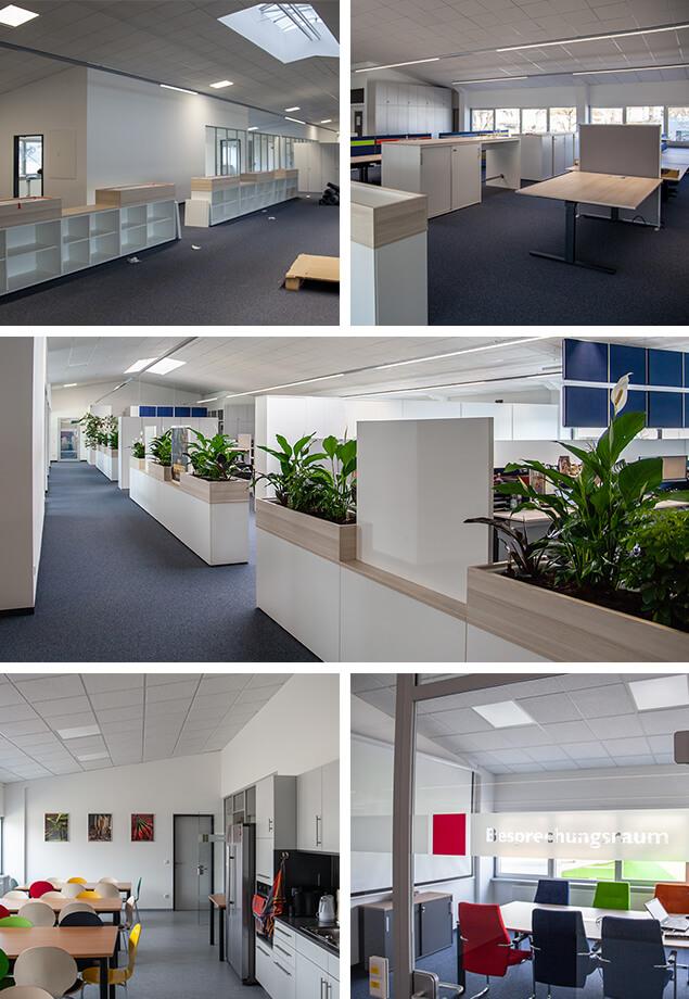Einräumen und fertiges Büro – Umbau Werk 1