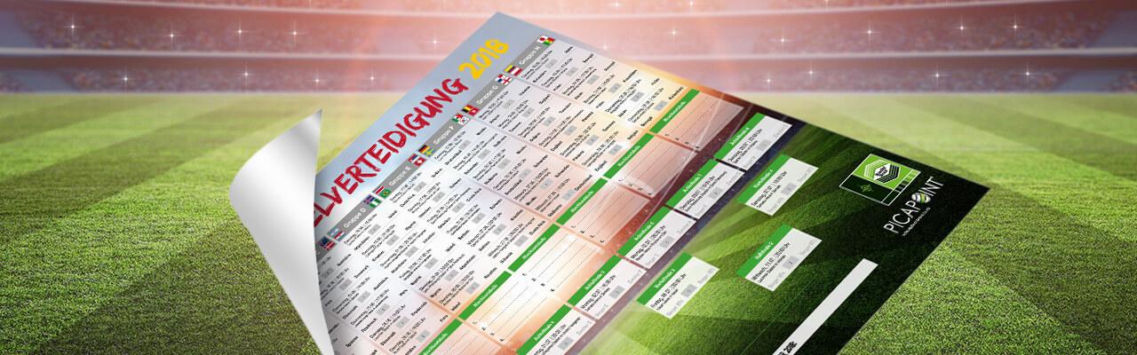 Spielplan zum Fußball-Event 2018
