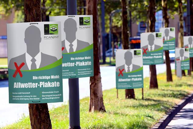 Staudigl-Druck und PICAPOINT als Partner im Wahlkampf