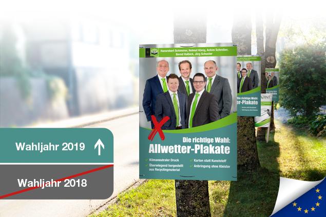Klimaneutrale Wahlplakate von Staudigl-Druck
