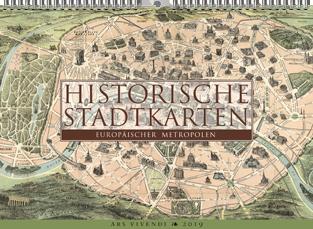 Historische Stadtkarten Europäischer Metropolen | Gregor Calendar Award 2019 – Bronze