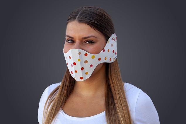 Einweg-Behelfsmaske aus Papier
